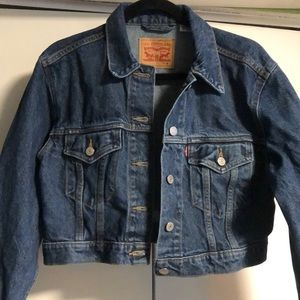 NEW Cropped Levi Strauss Denim Jacket - M